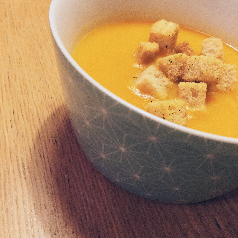 Crema de boniato, calabaza y zanahorias